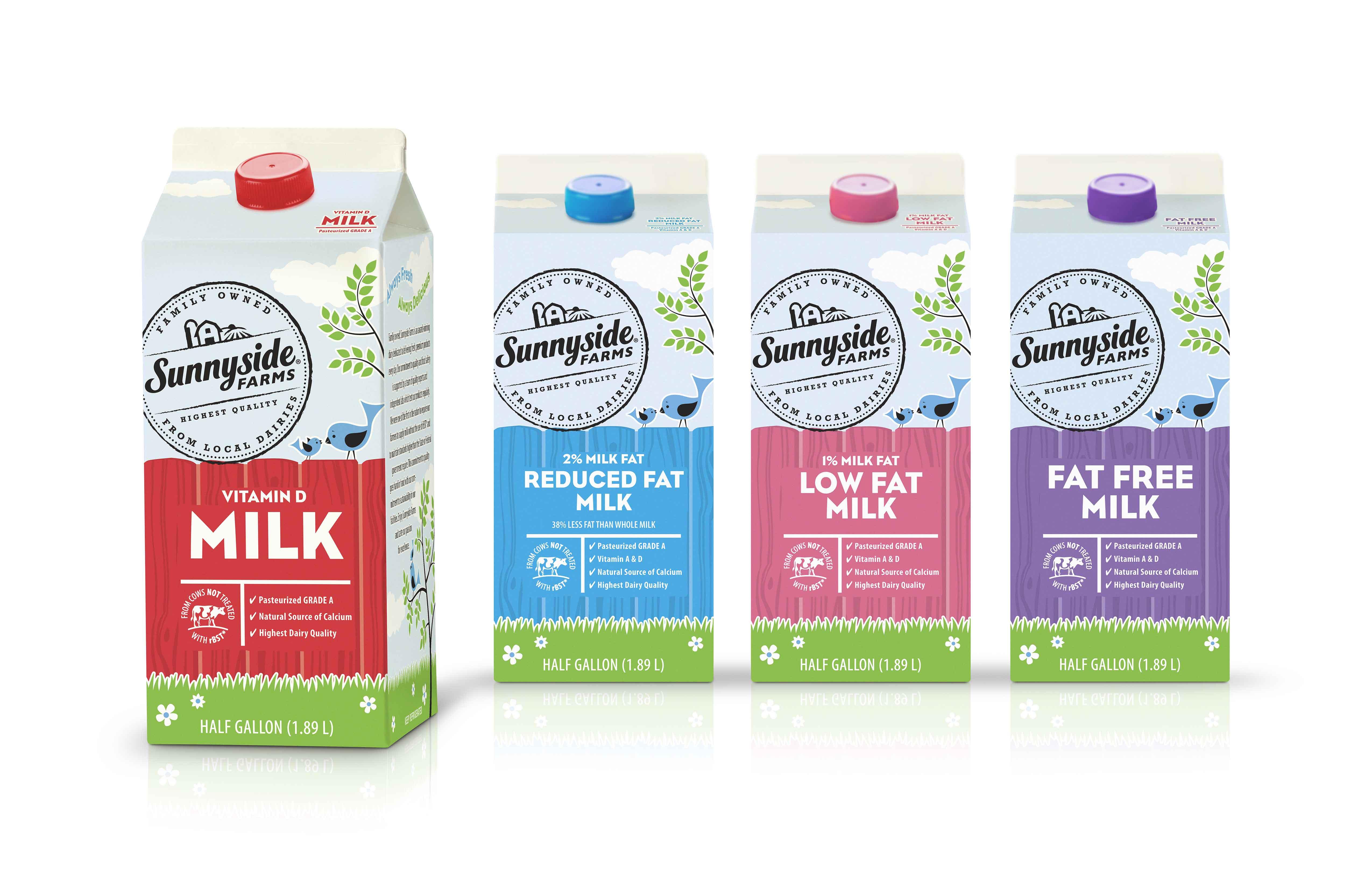 Sunnyside Farms Milk Packaging Design